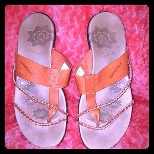 Merrell orange stylish flip flops